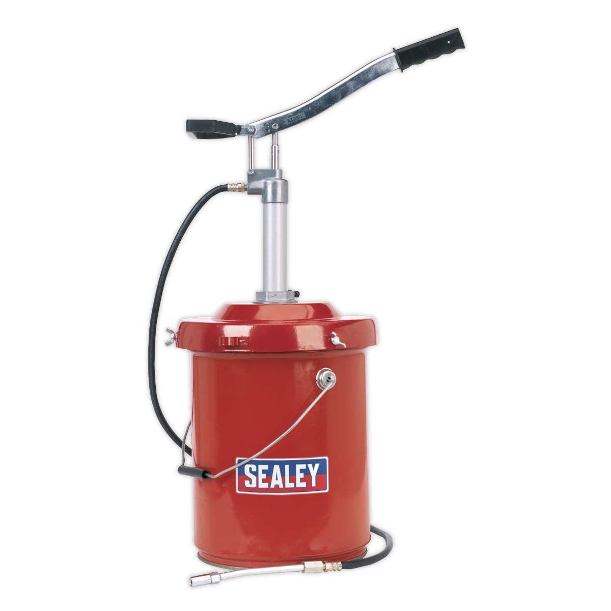 Sealey Bucket Greaser with Follower Plate 12.5kg Heavy-Duty