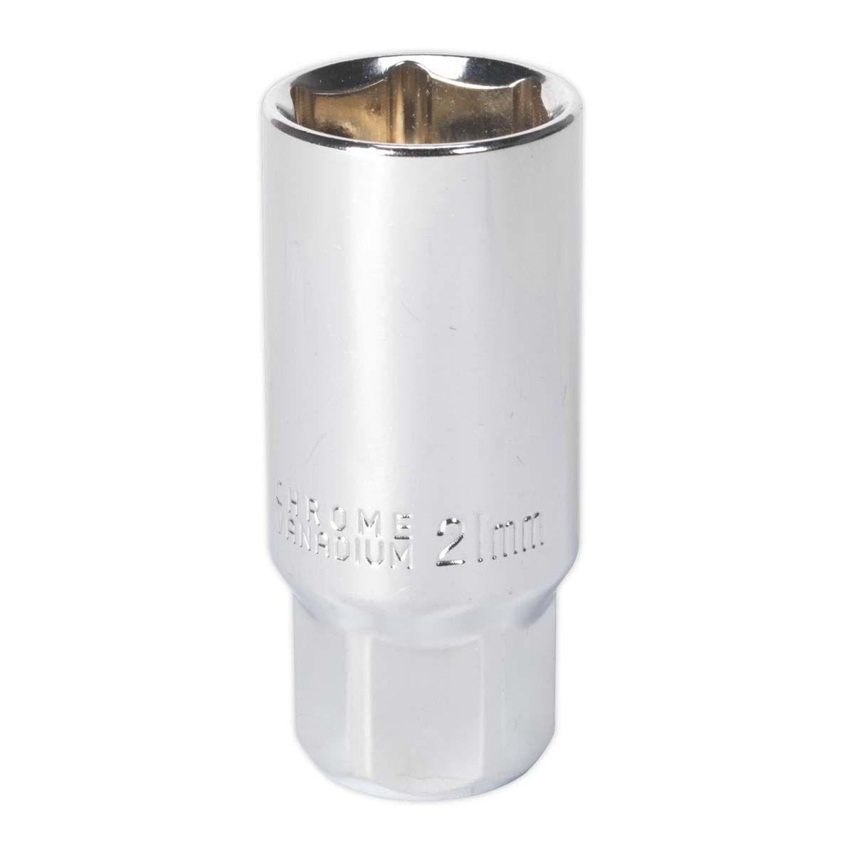 "Sealey Spark Plug Socket 21mm 3/8""Sq Drive Magnetic"