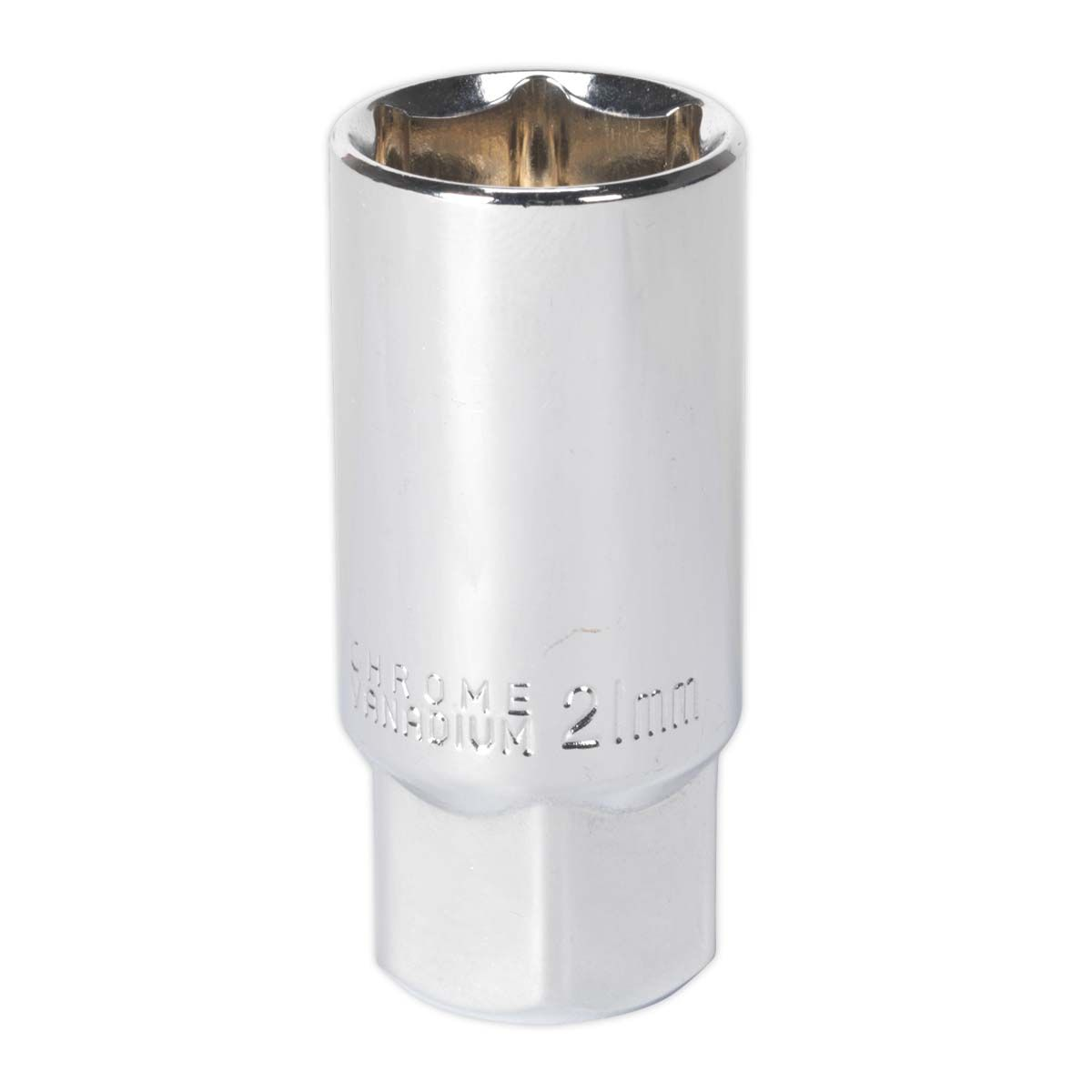 "Sealey Spark Plug Socket 21mm 1/2""Sq Drive Magnetic"
