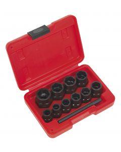 "Sealey Bolt Extractor Set 11pc 3/8""Sq Drive or Spanner"