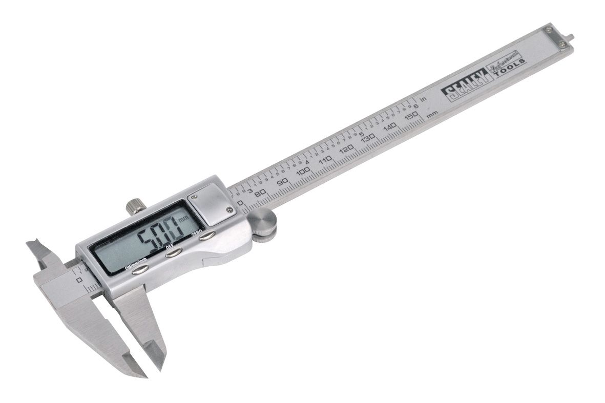 "Sealey Digital Vernier Caliper 0-150mm(0-6"") Stainless Steel"