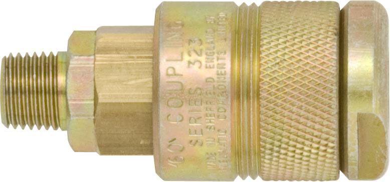"PCL 60 Series Couplings 1/4"" BSP Male"