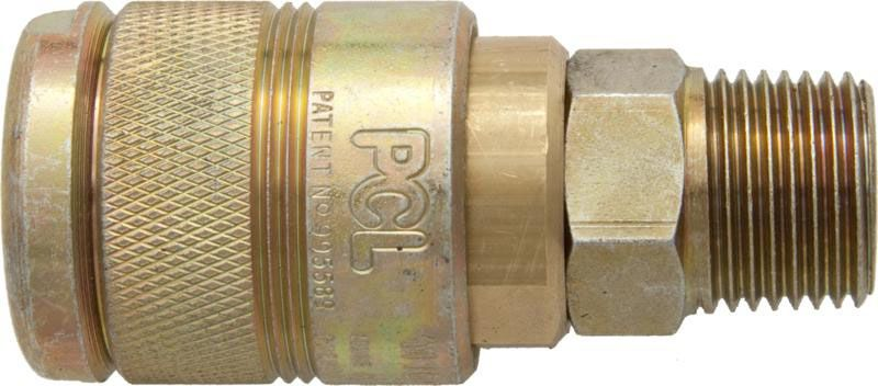 """PCL 100 Series Coupling 1/2"""" BSP Male"""