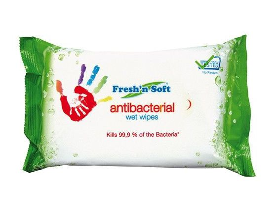 Fresh n Soft Antibacterial Wet Wipes Pack 60