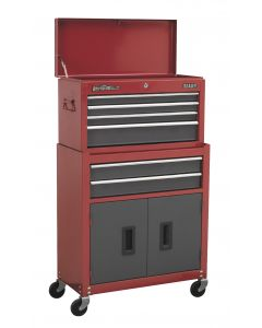 Sealey American Pro Topchest & Rollcab Combination 6 Drawer with Ball Bearing Sl
