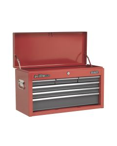 Sealey American Pro Topchest 6 Drawer with Ball Bearing Slides - Red/Grey