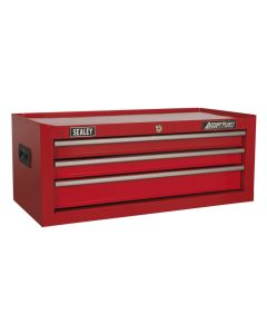 Sealey American Pro Mid-Box 3 Drawer with Ball Bearing Slides - Red