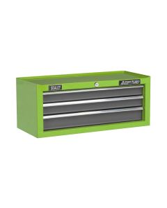 Sealey American Pro Mid-Box 3 Drawer with Ball Bearing Slides - Green/Grey