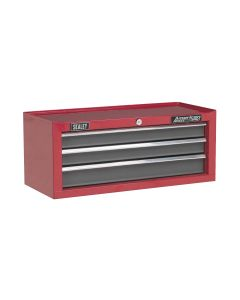 Sealey American Pro Mid-Box 3 Drawer with Ball Bearing Slides - Red/Grey