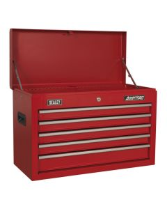 Sealey American Pro Topchest 5 Drawer with Ball Bearing Slides - Red
