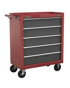 Sealey American Pro Rollcab 5 Drawer with Ball Bearing Slides - Red/Grey