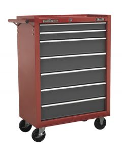 Sealey American Pro Rollcab 7 Drawer with Ball Bearing Slides - Red/Grey