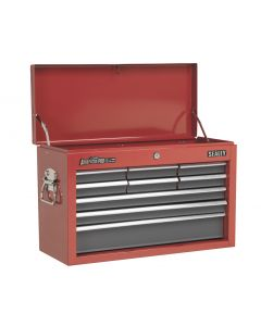 Sealey American Pro Topchest 9 Drawer with Ball Bearing Slides - Red/Grey