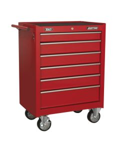Sealey American Pro Rollcab 6 Drawer with Ball Bearing Slides - Red