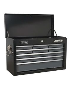 Sealey American Pro Topchest 9 Drawer with Ball Bearing Slides - Black/Grey
