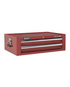 Sealey Superline Pro Mid-Box 2 Drawer with Ball Bearing Slides - Red