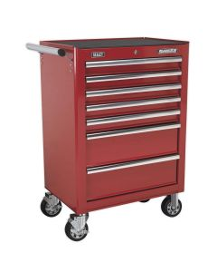 Sealey Superline Pro Rollcab 7 Drawer with Ball Bearing Slides - Red