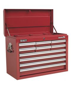 Sealey Superline Pro Topchest 10 Drawer with Ball Bearing Slides - Red