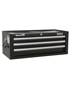 Sealey Superline Pro Mid-Box 3 Drawer with Ball Bearing Slides - Black