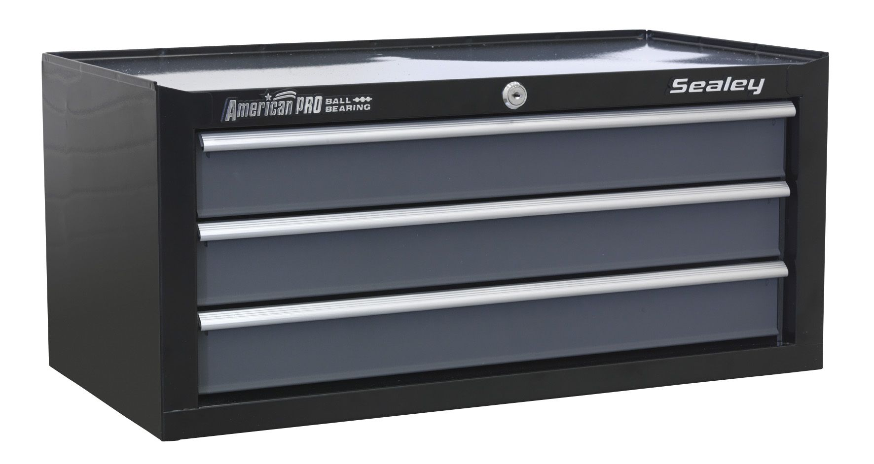 Sealey American Pro Mid-Box 3 Drawer with Ball Bearing Slides - Black/Grey