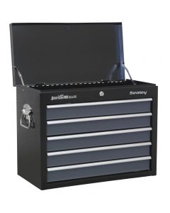 Sealey American Pro Topchest 5 Drawer with Ball Bearing Slides - Black/Grey