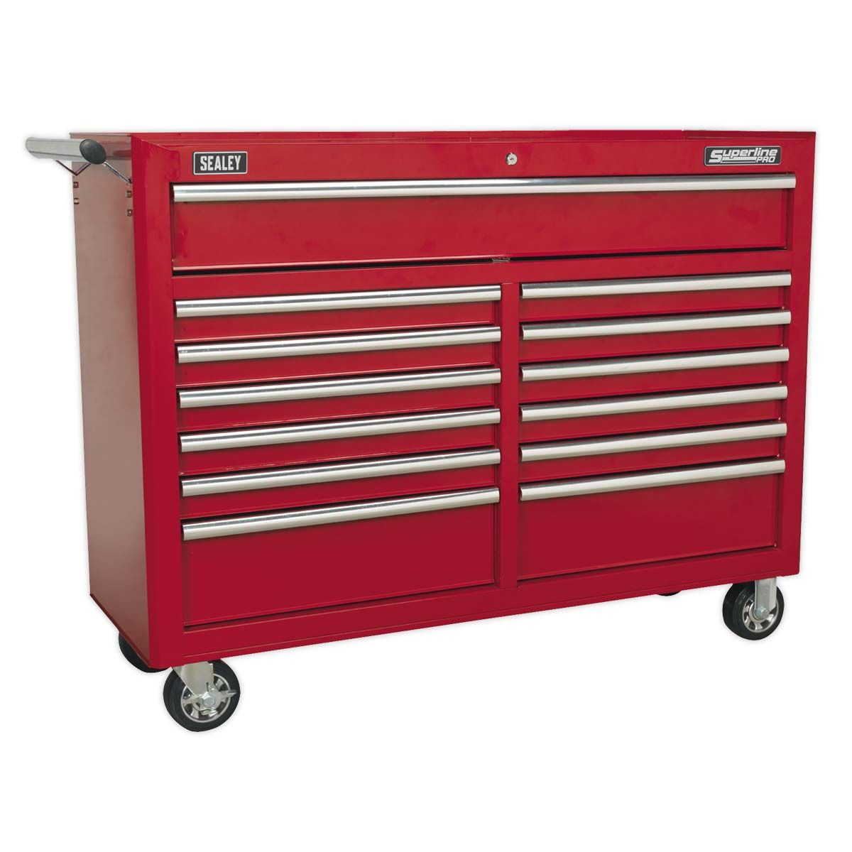 Sealey Superline Pro Rollcab 13 Drawer with Ball Bearing Slides - Red