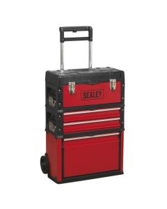 Sealey Mobile Steel/Composite Toolbox - 3 Compartment