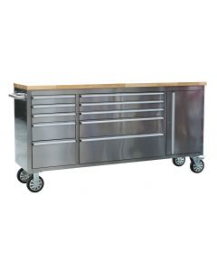 Sealey Premier Mobile Stainless Steel Tool Cabinet 10 Drawer & Cupboard