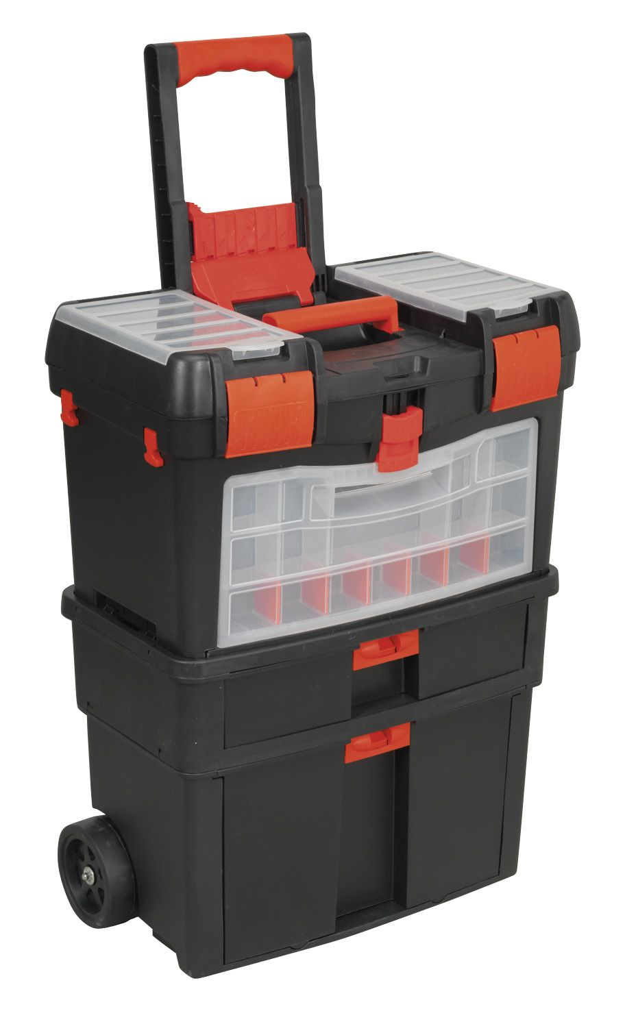 Sealey Mobile Toolbox with Tote Tray & Removable Assortment Box