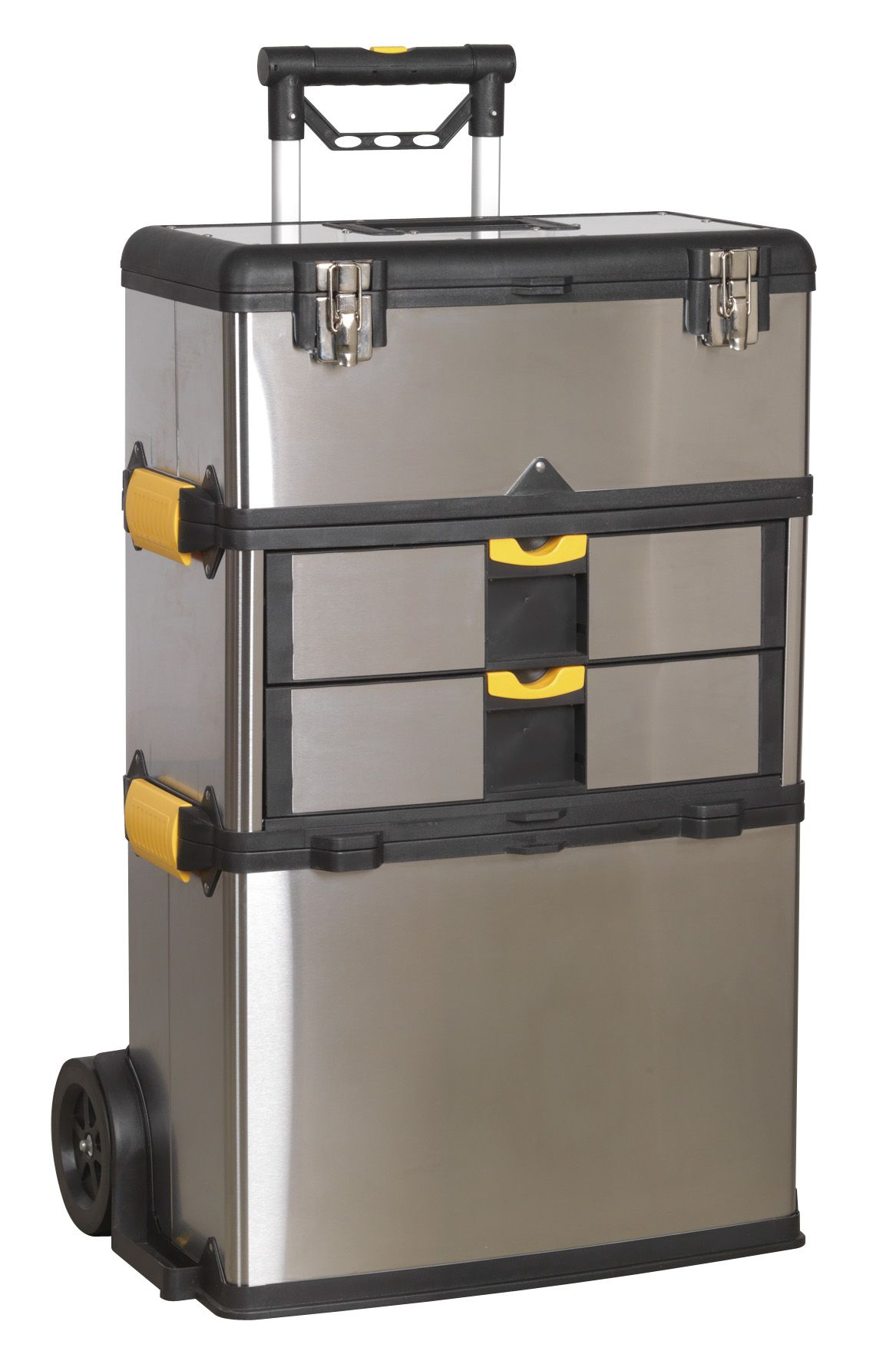 Sealey Mobile Stainless Steel/Composite Toolbox - 3 Compartment