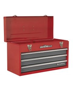 Sealey American Pro Tool Chest 3 Drawer Portable with Ball Bearing Slides - Red/