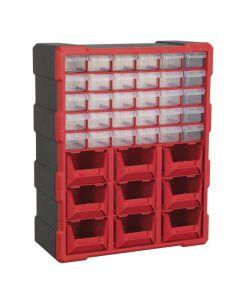 Sealey Cabinet Box 39 Drawer - Red/Black