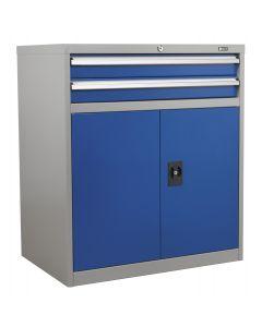 Sealey Industrial Cabinet 2 Drawer & 1 Shelf Double Locker