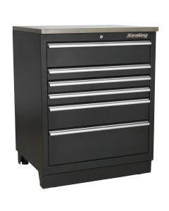 Sealey Premier Modular Floor Cabinet 6 Drawer 775mm Heavy-Duty