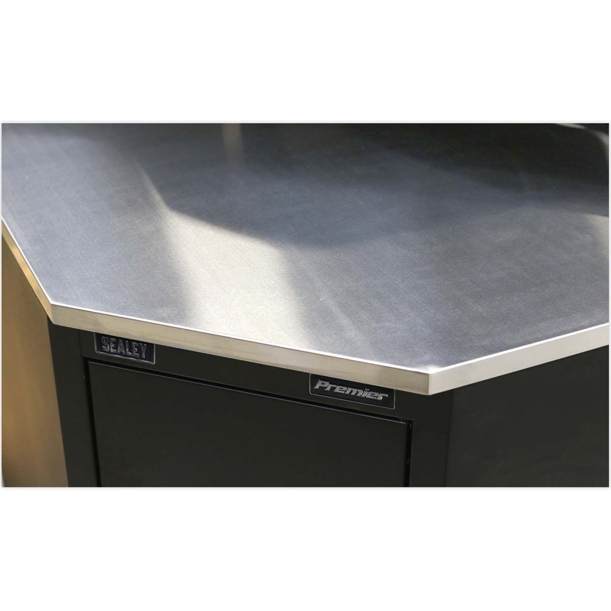 Sealey Premier Stainless Steel Corner Worktop 930mm