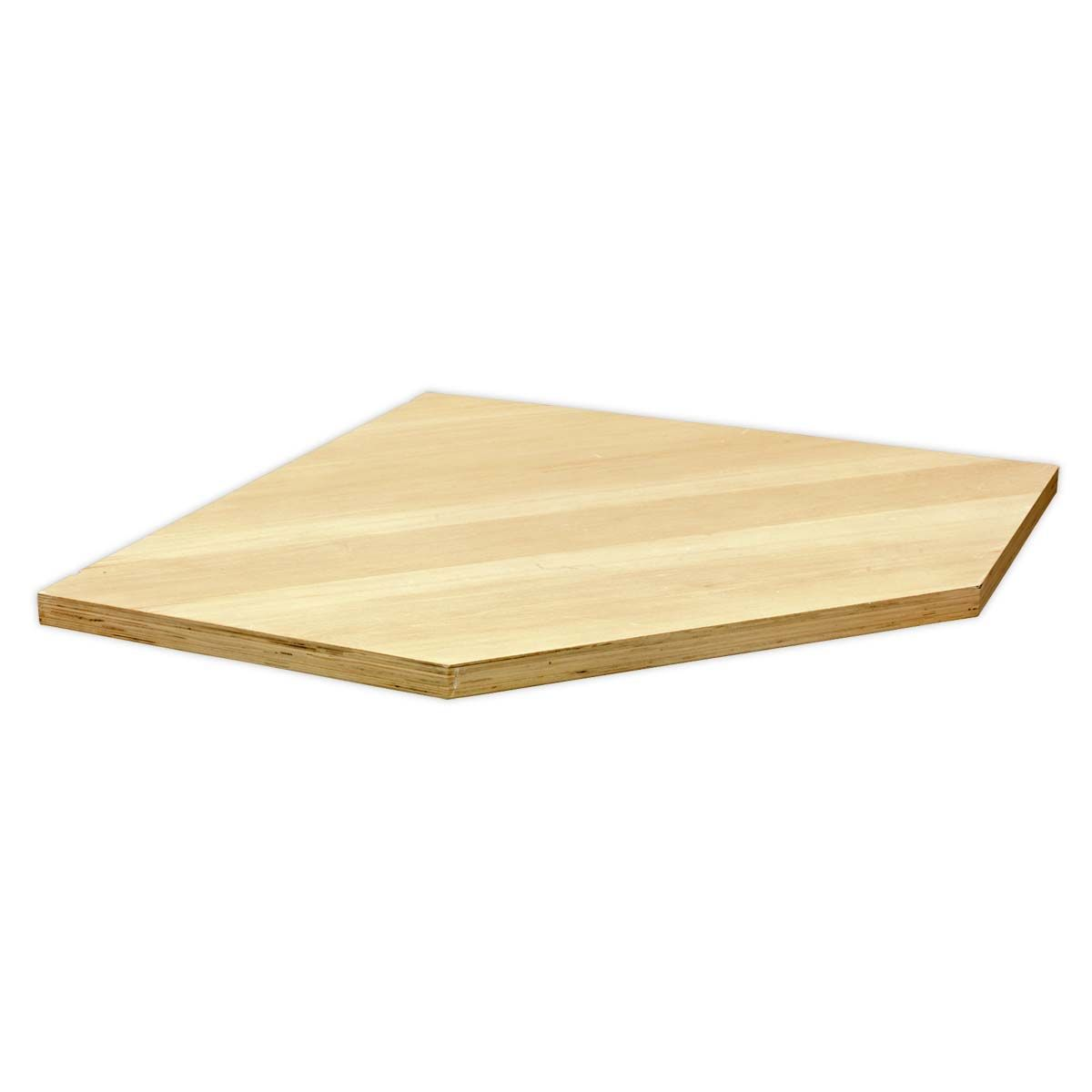 Sealey Superline Pro Pressed Wood Worktop for Modular Corner Cabinet 865mm