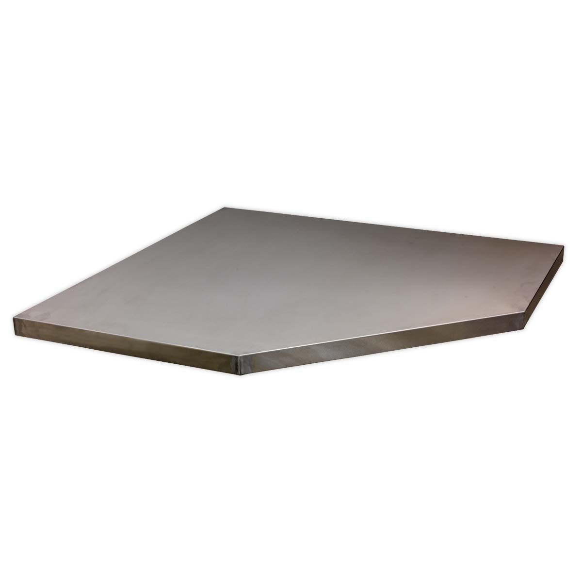 Sealey Superline Pro Stainless Steel Worktop for Modular Corner Cabinet 865mm