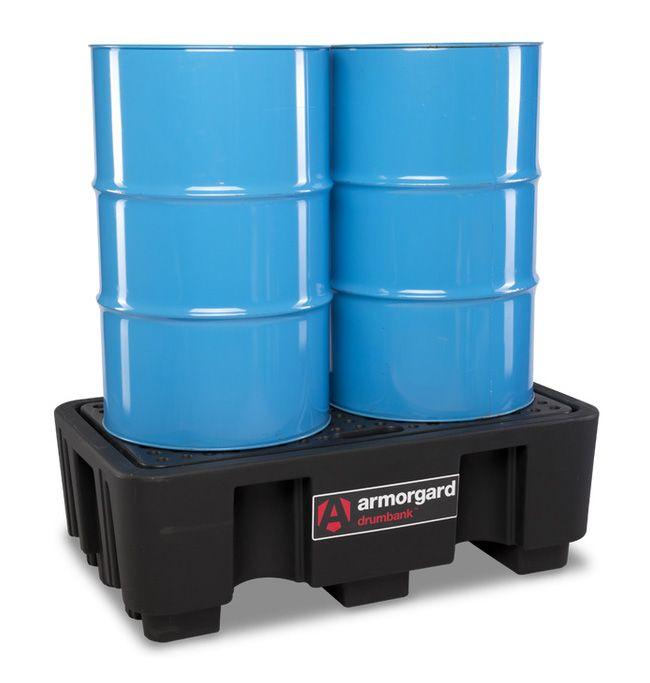Armorgard DBP2 Drumbank 2 Drum Plastic Spill Pallet