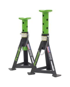 Sealey Axle Stands (Pair) 3tonne Capacity per Stand Green