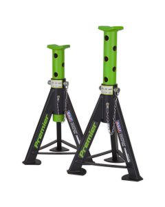 Sealey Axle Stands (Pair) 6tonne Capacity per Stand - Green