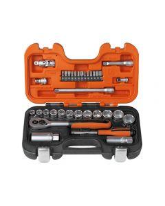 "Bahco S330 34 Piece Socket Set Metric 1/4"" & 3/8"" Drive"