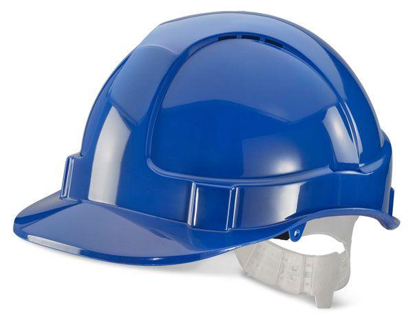 B Brand Economy Vented Safety Helmet Blue