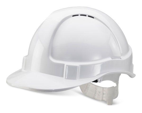 B Brand Economy Vented Safety Helmet White