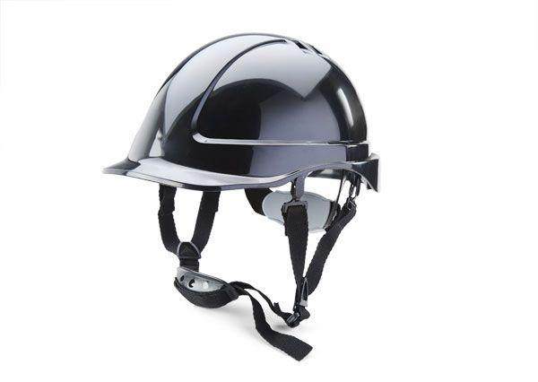 B Brand Short Peak Helmet Black