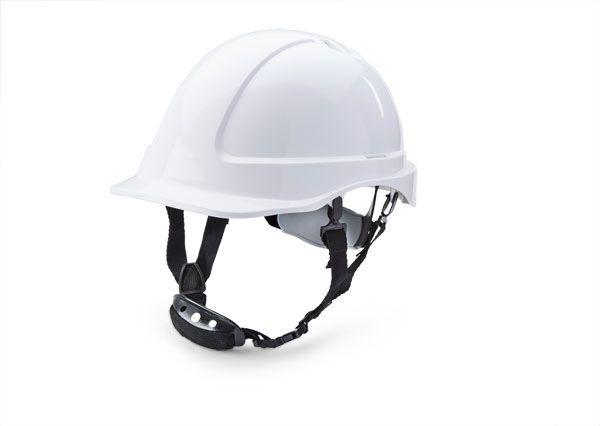 B Brand Short Peak Helmet White