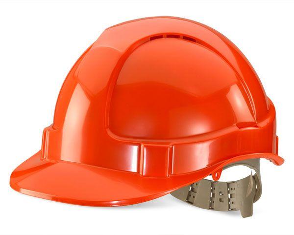 B Brand Vented Safety Helmet Orange