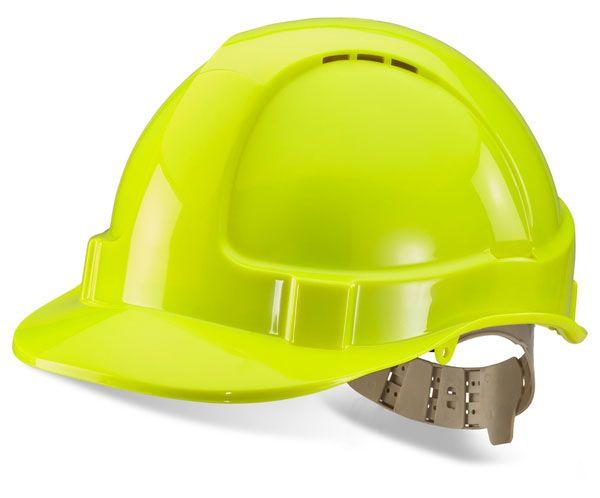 B Brand Vented Safety Helmet Saturn Yellow