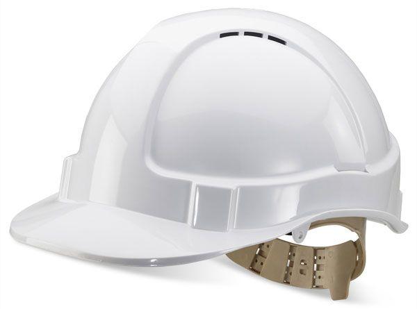 B Brand Vented Safety Helmet White