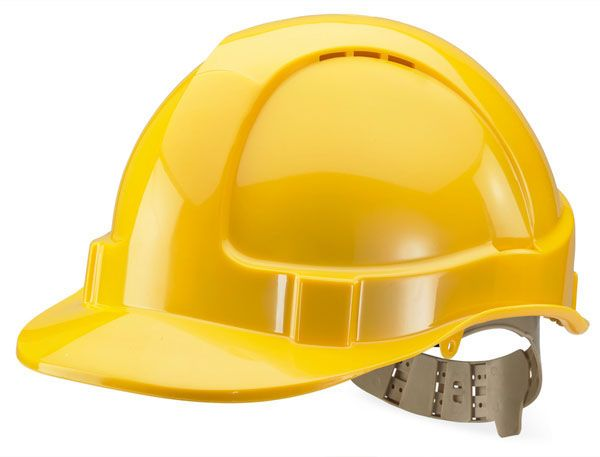 B Brand Vented Safety Helmet Yellow