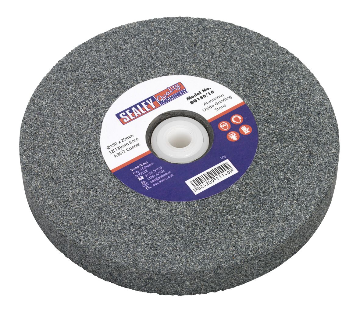 Sealey Grinding Stone 150 x 20mm 32(13)mm Bore